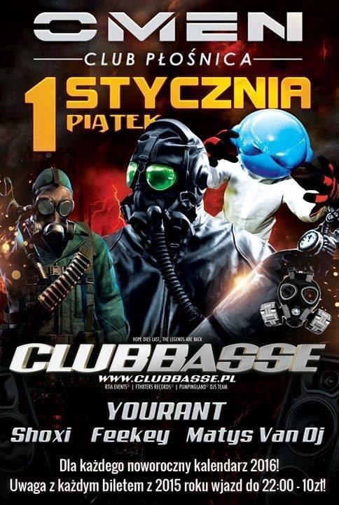 DJ Yourant - Omen Club Płośnica 01.01.2016