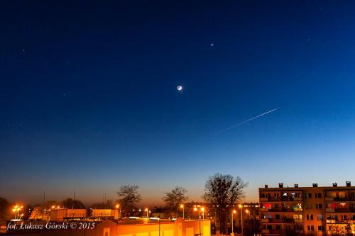 Koniunkcja Księżyc-Aldebaran #koniunkcja #księżyc #Aldebaran #niebo #Chojnice