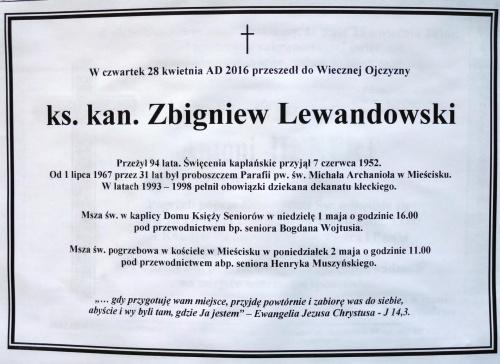 Klepsydra ks.kan Zbigniew Lewandowski 1922 2016 #Miescisko #Kłecko