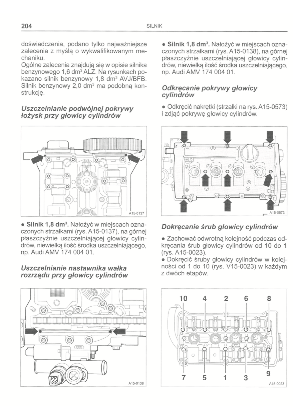 All B6 Wymiana Uszczelki Pokrywy Zaworów 18t 18t Audi A4 Klub