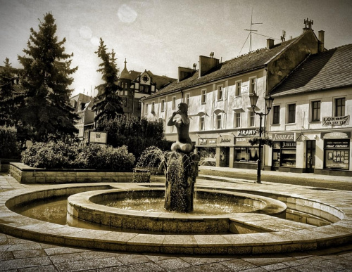 Ze starej fotografii.. Rynek Koźle, woj. opolskie